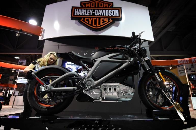 """La """"Live Wire"""", la moto toute électrique de Harley Davidson"""