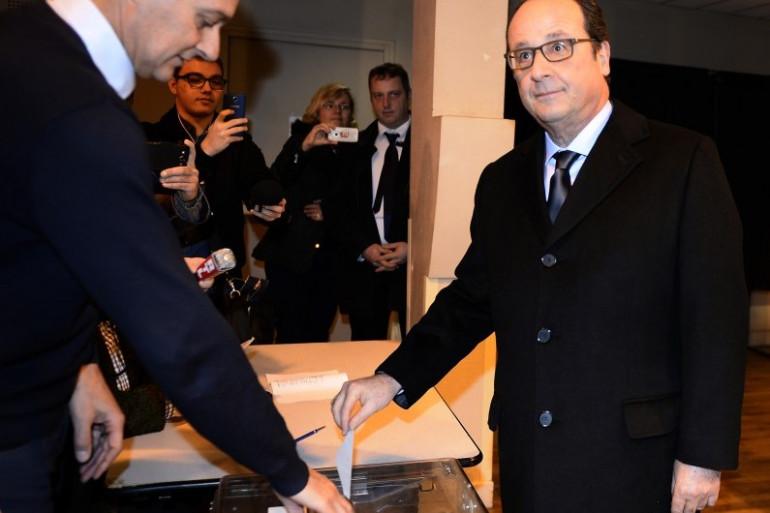 Élections régionales 2015 : François Hollande a voté à Tulle en Corrèze