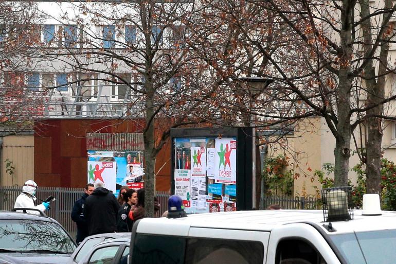 L'entrée de l'école maternelle publique Jean Perrin à Aubervilliers