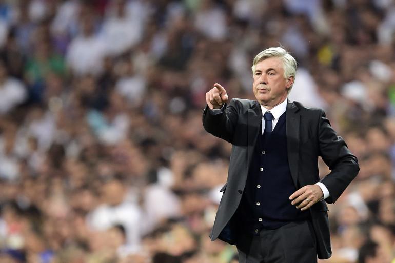 Carlo Ancelotti lorsqu'il était entraîneur du Real Madrid, le 13 mai 2015.