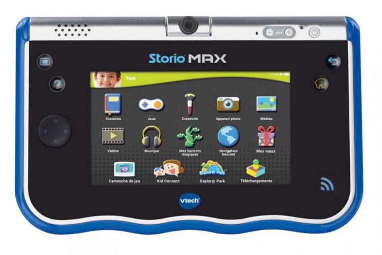 """Sur la tablette Storio Max 5"""", il y a des histoires illustrées et racontées"""