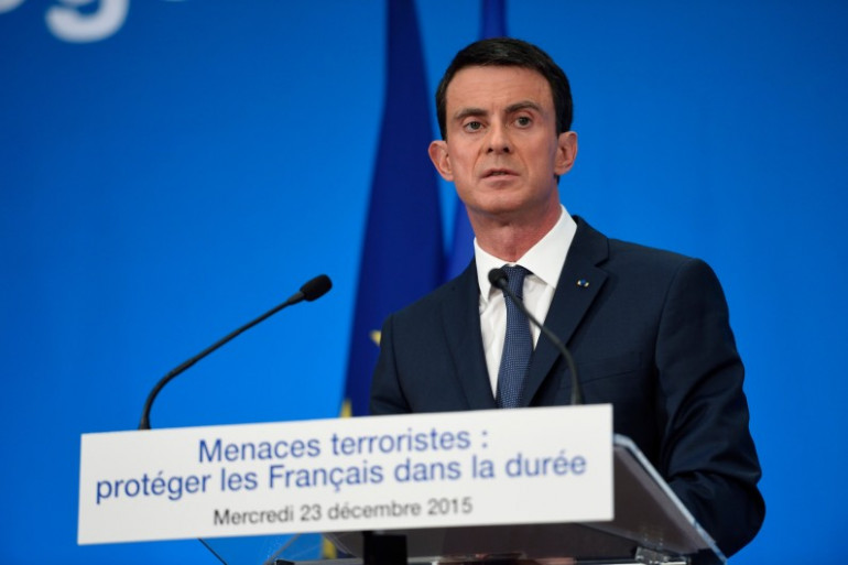 Manuel Valls, le 23 décembre 2015