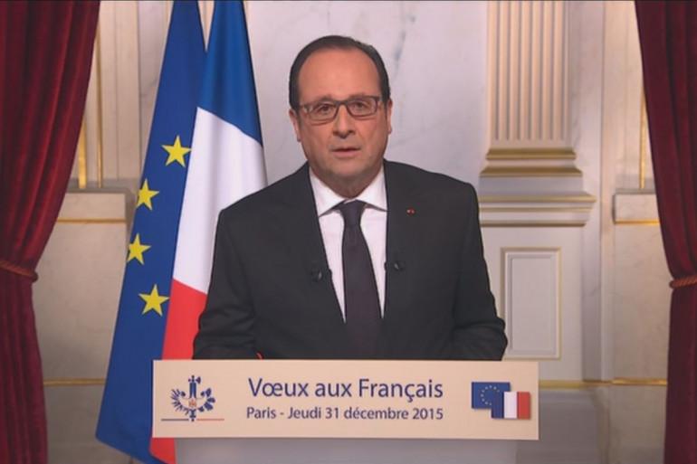 François Hollande lors de son élocution pour 2016