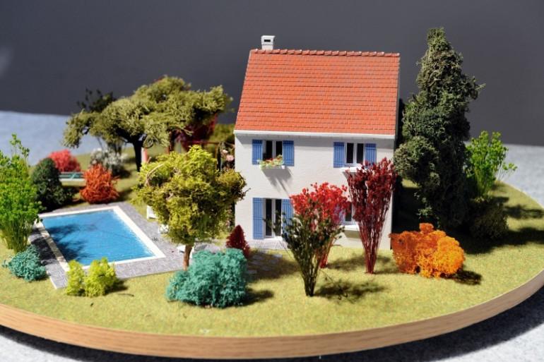 La maquette d'un logement neuf dont l'acquisition est possible grâce au prêt à taux zéro (PTZ)