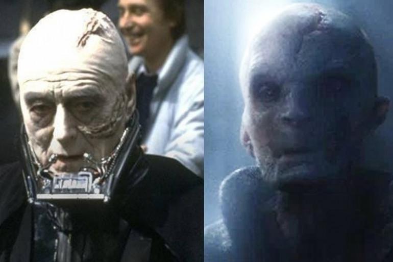 Cette photo est supposé montrer une ressemblance entre Dark Vador (sans casque) et Dark Plagueis