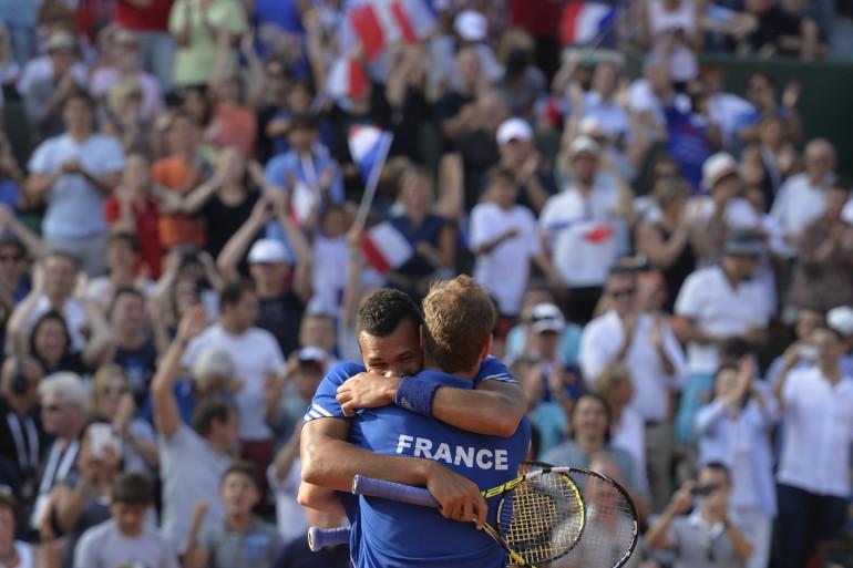 Jo-Wilfried Tsonga et Richard Gasquet (ici en septembre 2014) remporteront-ils la Coupe Davis ?