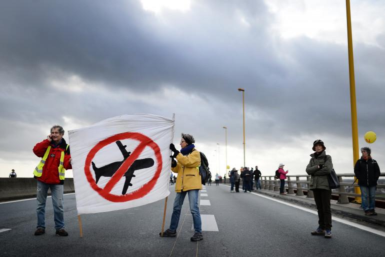 Mobilisation contre l'expulsion de quinze habitants du site du futur aéroport Notre-Dame-des-Landes.