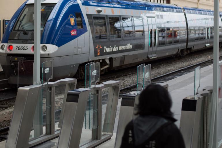 Les portiques installés à la gare de Marseille Saint-Charles