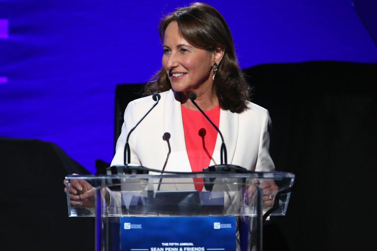 Ségolène Royal a prononcé un discours devant Leonardo Dicaprio lors du gala organisé par Sean Penn