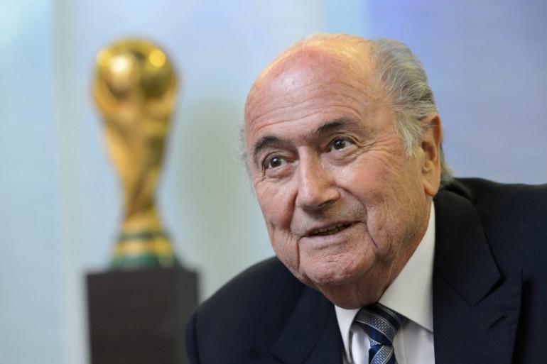 Sepp Blatter le président de la Fifa le 15 mai 2015.