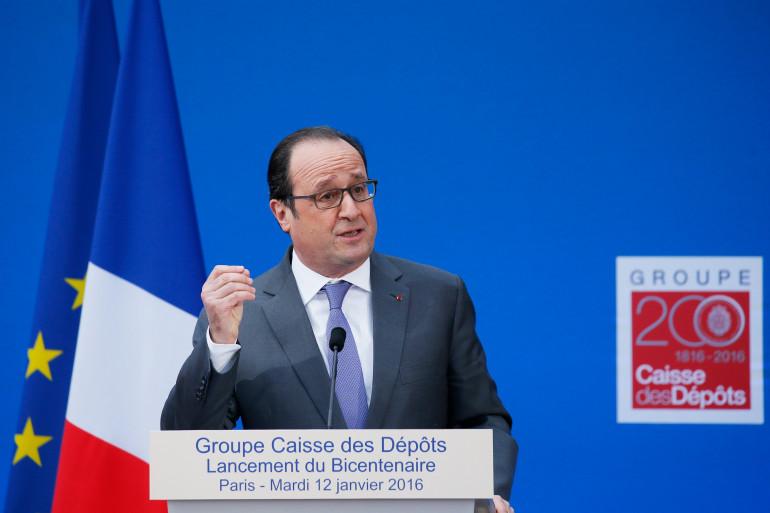 François Hollande, le 12 janvier 2016