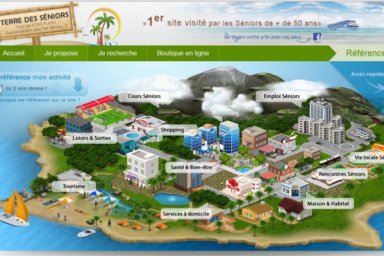 """Un détail de la page d'accueil du site """"Terre-des-Seniors"""""""