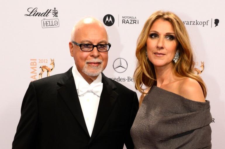 René Angélil et sa femme Céline Dion en 2012