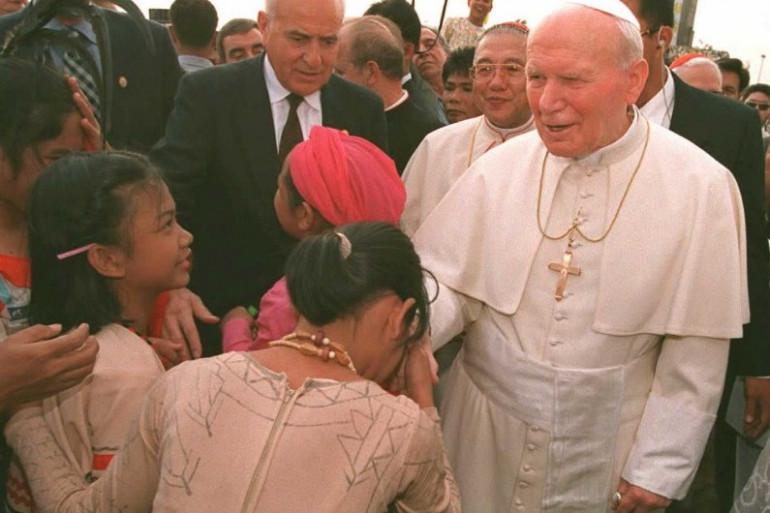 Jean Paul II à Manille en janvier 1995