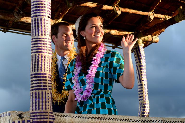 Kate et William lors de leur voyage en Asie, à Singapour, en septembre 2011