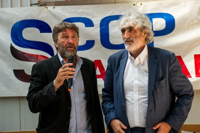 Le secrétaire général du syndicat Maritime Nord Eric Vercoutre et Me Philippe Brun, l'avocat qui représente la SCOP SeaFrance (illustration).