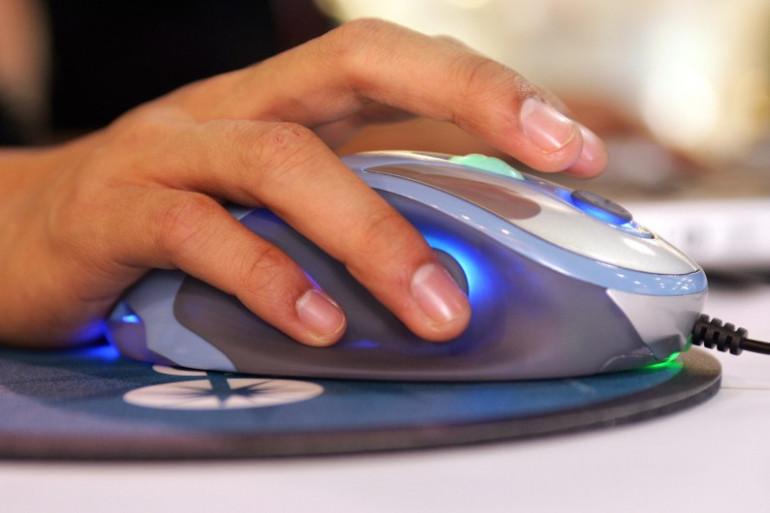 Une souris d'ordinateur (illustration)