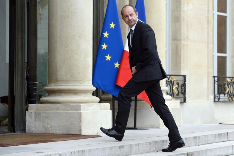 Jean-Jacques Urvoas, nouveau ministre de la Justice, à l'Élysée en octobre 2013