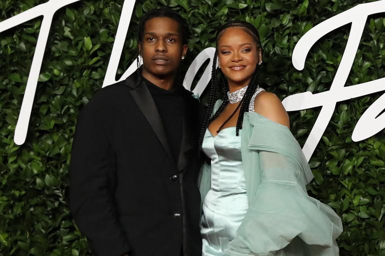 Rihanna et A$AP Rocky en 2019 pour les Fashion Awards