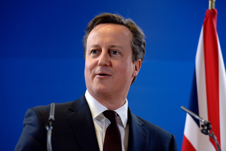 Le Premier ministre britannique David Cameron lors d'un discours