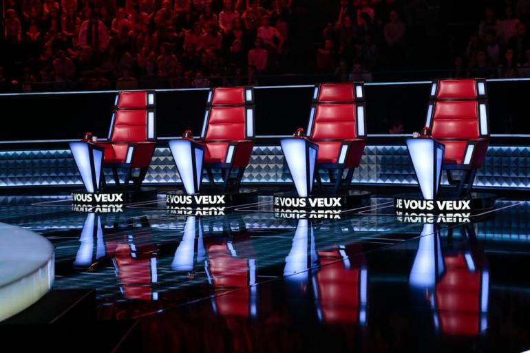 """Le plateau de """"The Voice"""", télé-crochet de TF1"""