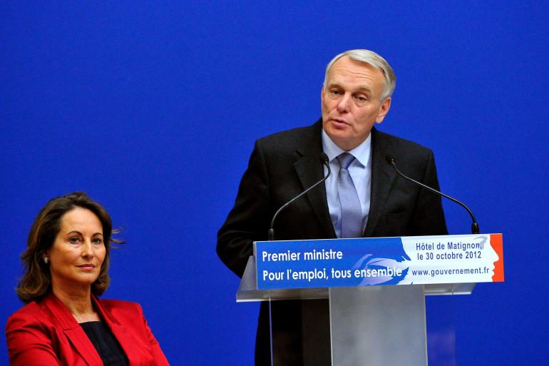 Ségolène Royal et Jean-Marc Ayrault à Matignon le 30 décembre 2012