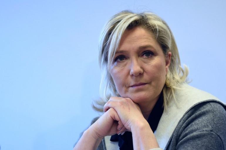 Marine Le Pen le 26 janvier 2015 à Nanterre