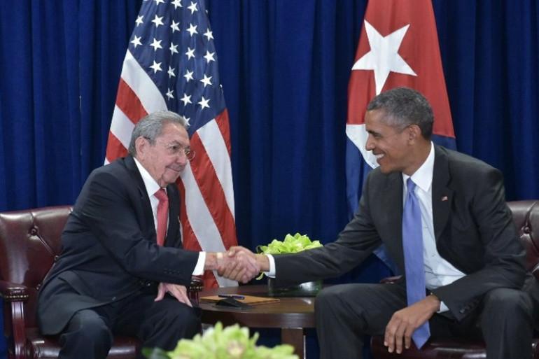 Les présidents cubain Raul Castro et américain Barack Obama se sont déjà rencontrés le 29 septembre 2015