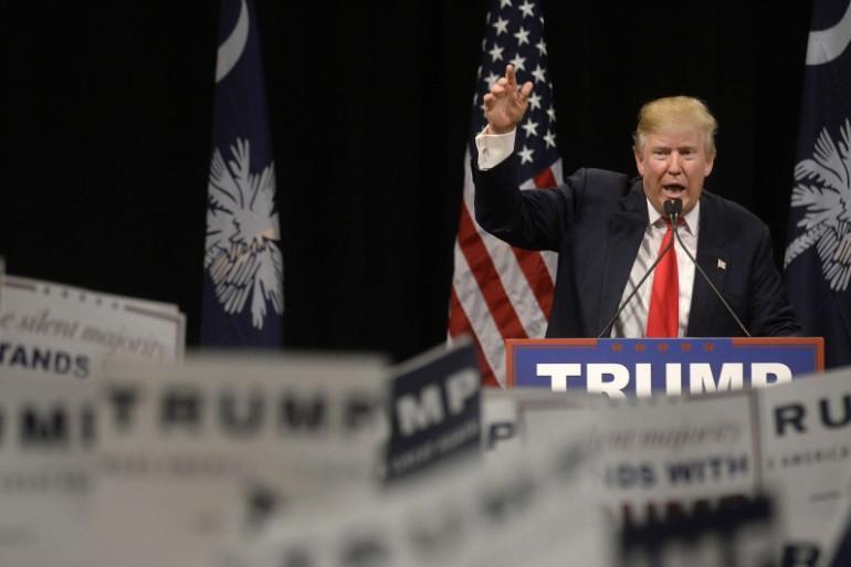 Donald Trump lors d'un meeting le 19 février 2016.
