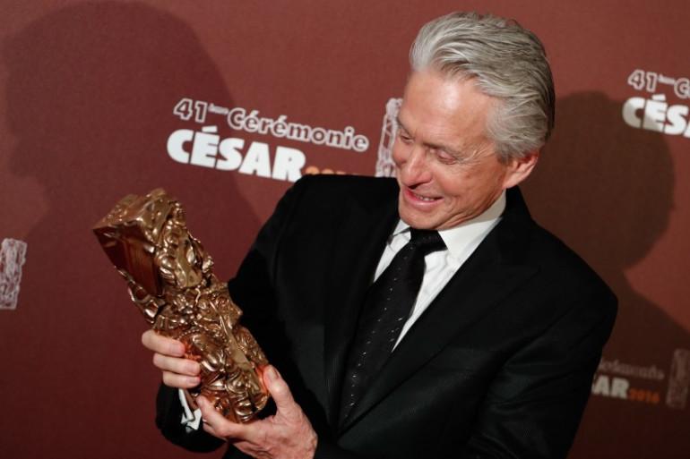 Michael Douglas a reçu un César d'Honneur pour sa carrière