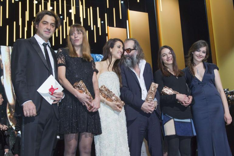 Les lauréats des César 2016 sur la scène du Théatre du Châtelet, le 26 février 2016