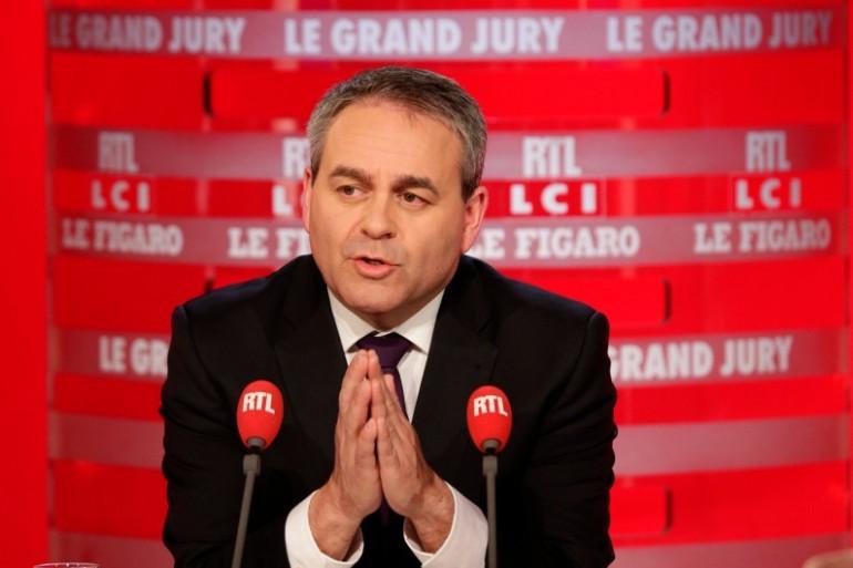 """Xavier Bertrand, invité du """"Grand Jury"""" sur RTL, dimanche 28 février 2016"""