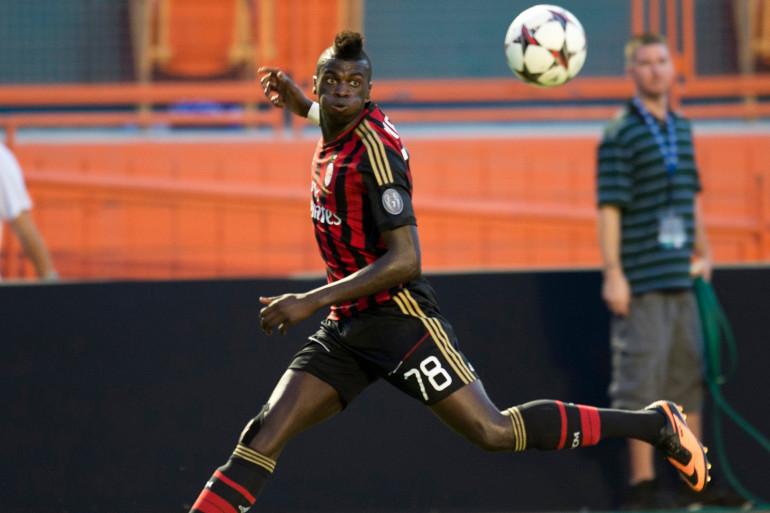 M'baye Niang sous le maillot de l'AC Milan