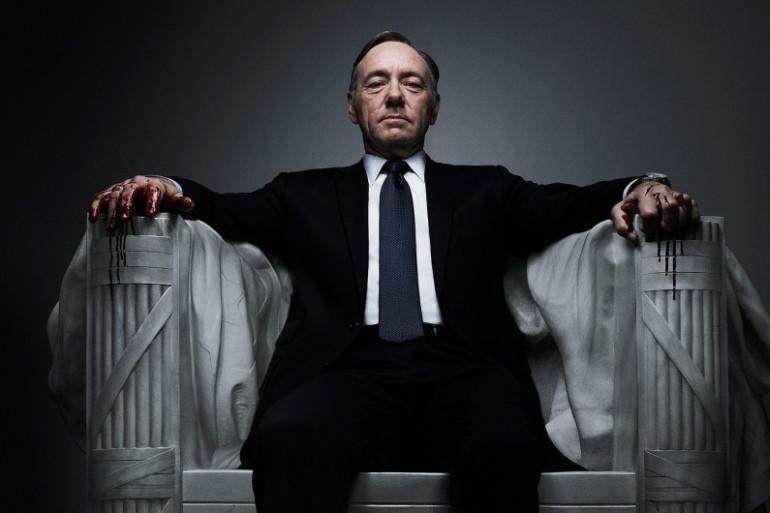 """Kevin Spacey incarne l'influent Frank Underwood dans la série """"House of Cards"""""""