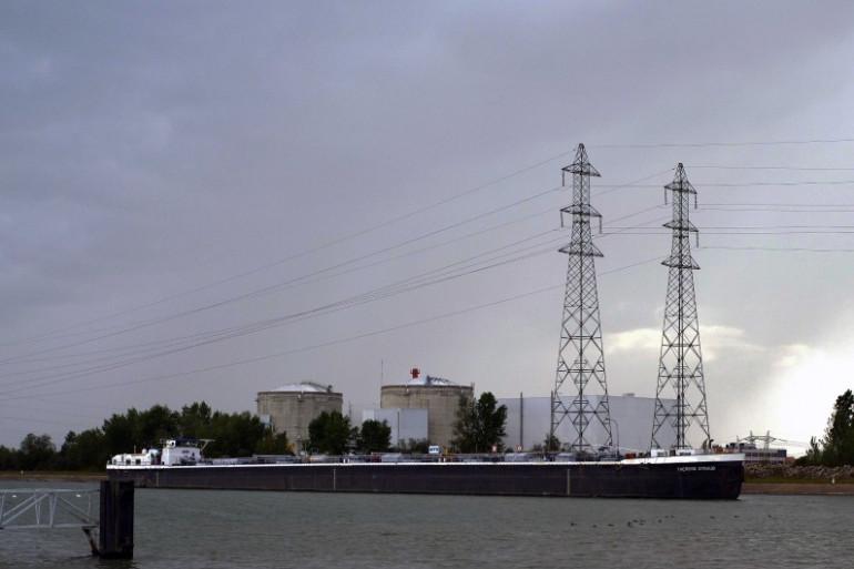 Une vue de la centrale nucléaire de Fessenheim, dans le Haut-Rhin