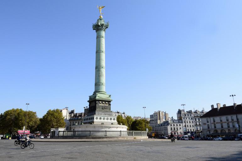 La place de la Bastille, à Paris.