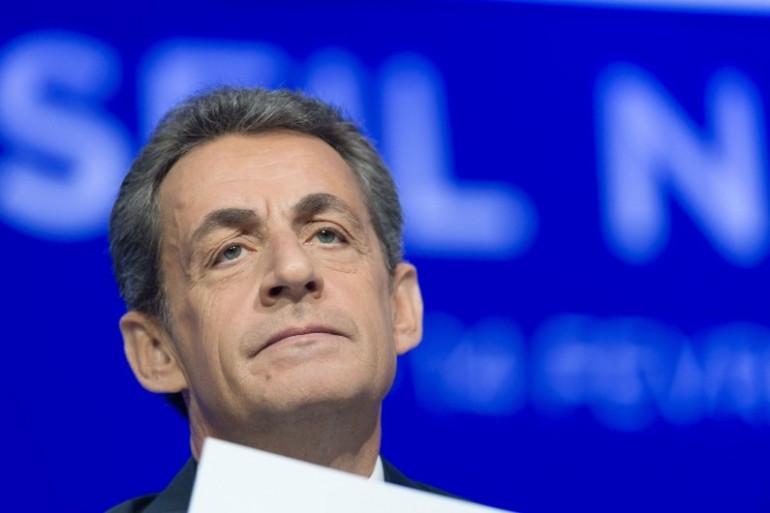 Nicolas Sarkozy à Paris le 14 février 2016
