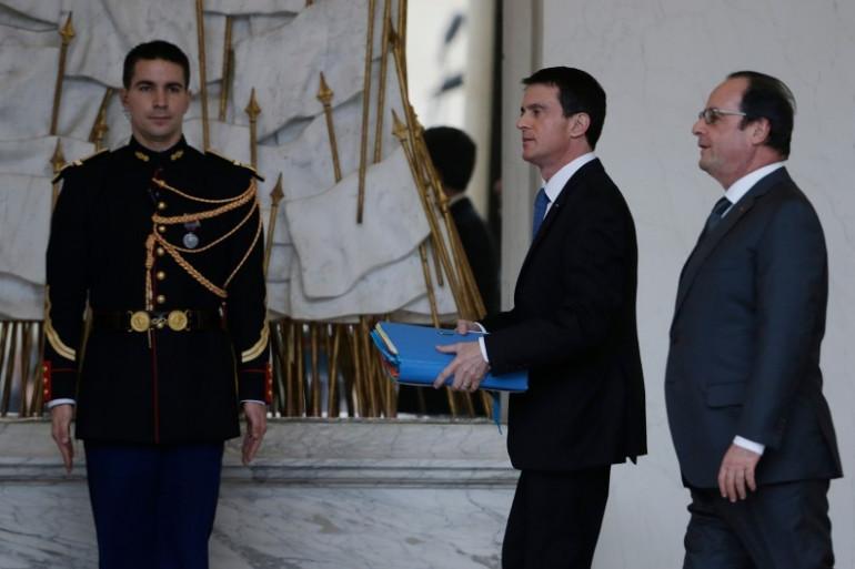 Manuel Valls et François Hollande à l'Élysée, le 27 janvier 2016