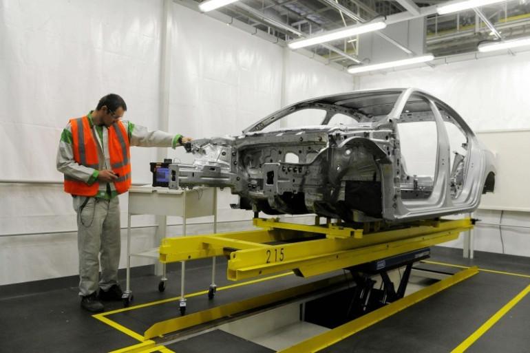 Une usine de montage du constructeur automobile Skoda en République tchèque