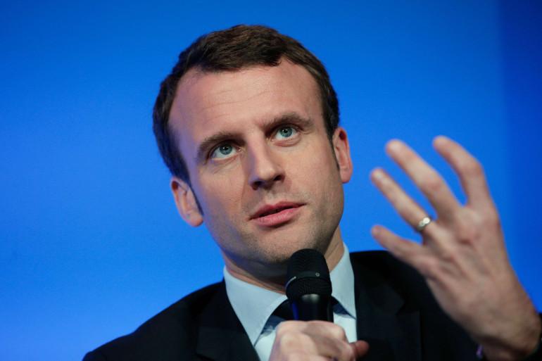 Emmanuel Macron lors de l'annonce de la nouvelle version du projet de loi, le 14 mars 2016