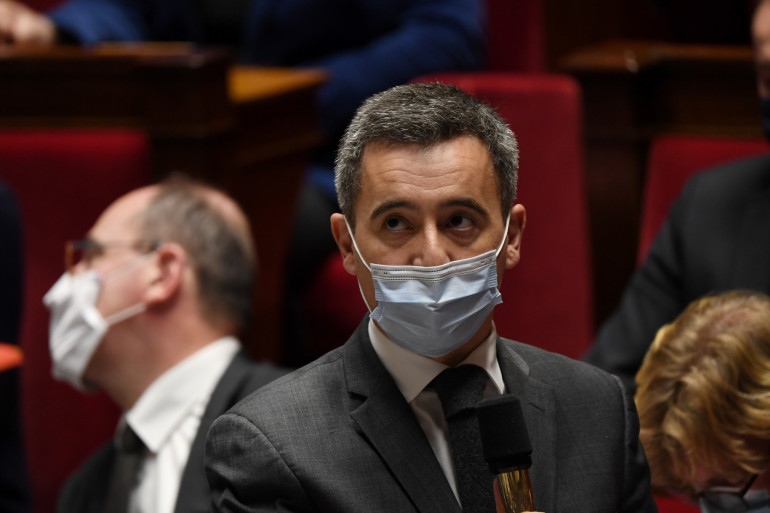 Gérald Darmanin, le 1er décembre 2020 à l'Assemblée nationale