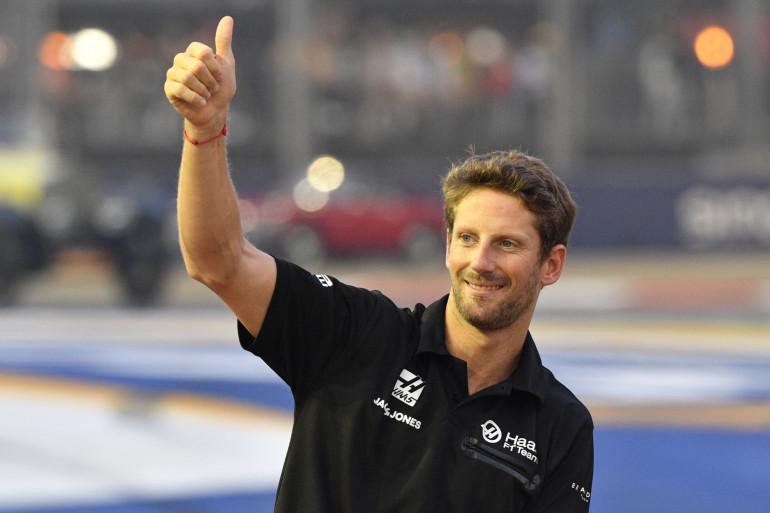 Romain Grosjean à Singapour le 22 septembre 2019