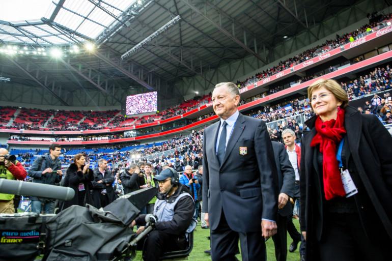 Jean-Michel Aulas dans le nouveau stade de Lyon le 9 janvier 2016