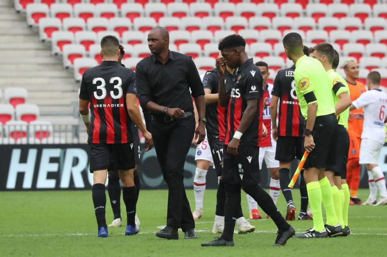 Patrick Vieira et les Niçois à l'Allianz Riviera le 20 septembre 2020