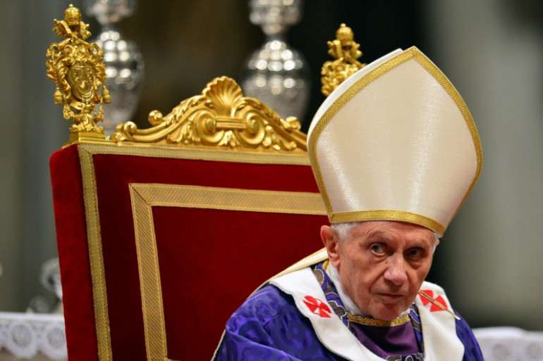 Le pape Benoit XVI, peu avant sa renonciation en février 2013.