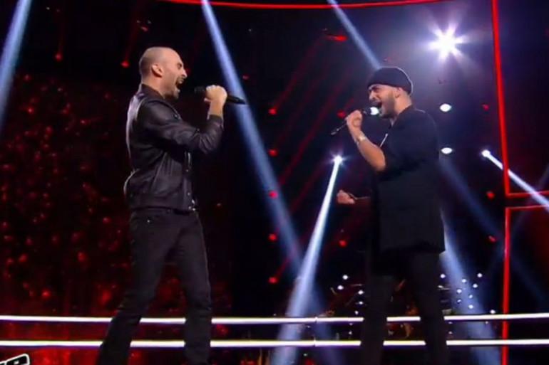 """François et Slimane sur le plateau de """"The Voice"""" samedi 26 mars"""