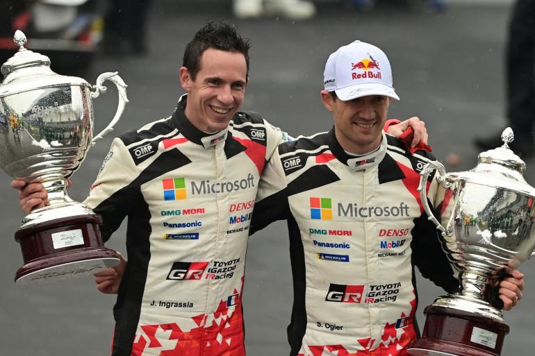 Julien Ingrassia et Sébastien Ogier à Monza le 6 décembre 2020