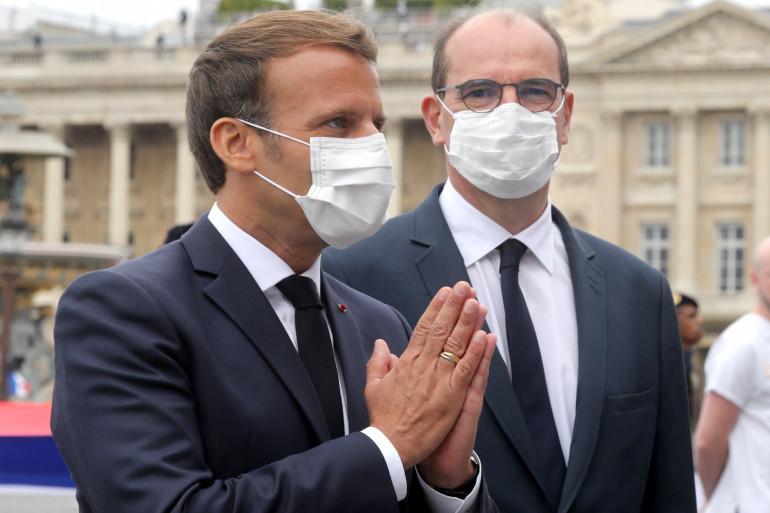 Emmanuel Macron et Jean Castex en juillet 2020 à Paris