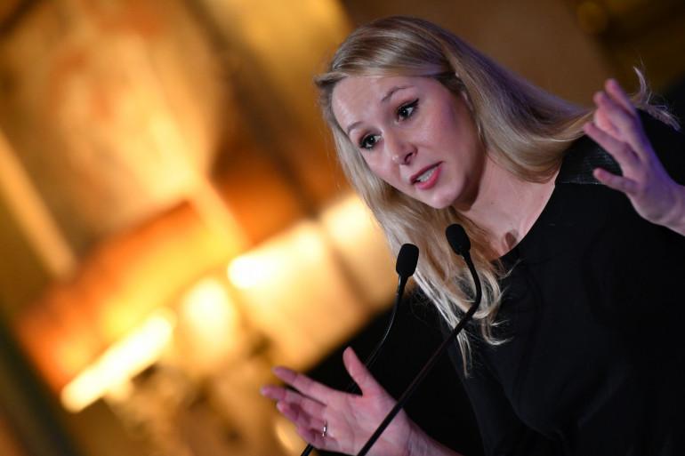 Marion Maréchal lors de la National Conservatism Conference, le 4 février 2020  à Rome.