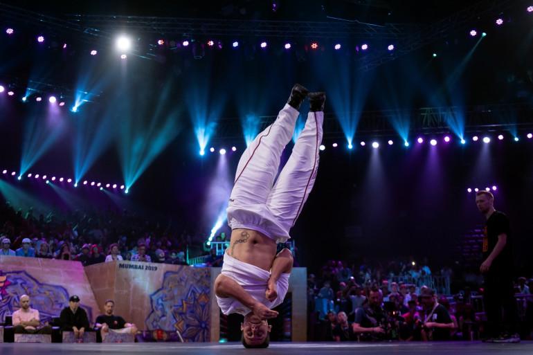 Le danseur autrichien Fouad Ambelj aka Lil Zoo, en novembre 2019